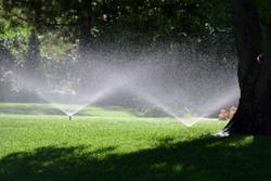 Green Grass With Water Sprinklers Marietta