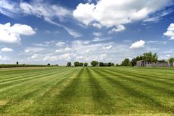 Sod Farm With Blue Sky Marietta