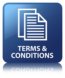 Terms and Conditions Blue Button